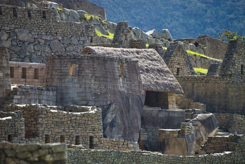 Punto di vista di Inca City antico di Machu Picchu, Perù fotografie stock