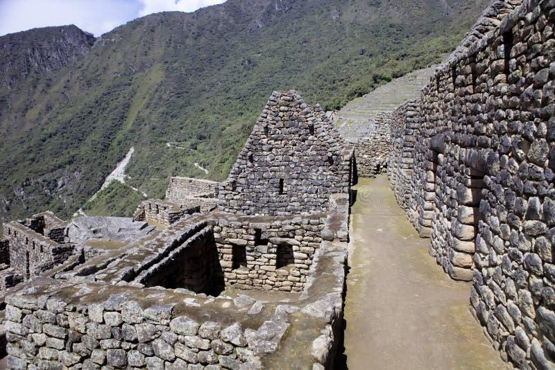 Punto di vista di Inca City antico di Machu Picchu, Perù fotografia stock libera da diritti