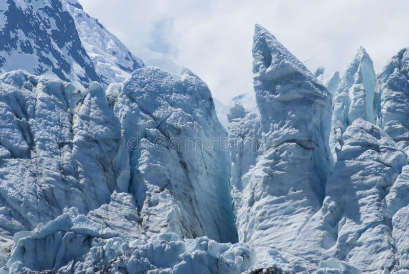 Punto di vista di Margerie Glacier al parco nazionale della baia di ghiacciaio, Alaska immagini stock
