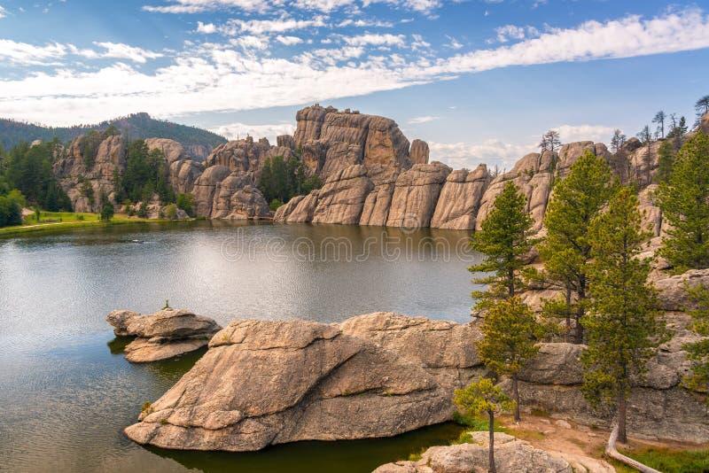Punto di vista di Sylvan Lake immagini stock libere da diritti