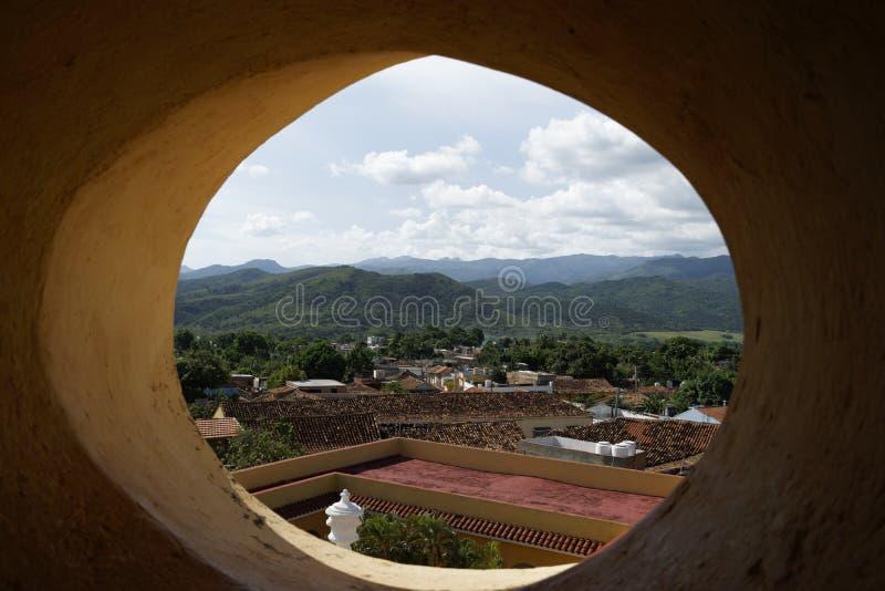 Punto di vista di Trinidad de Cuba immagine stock