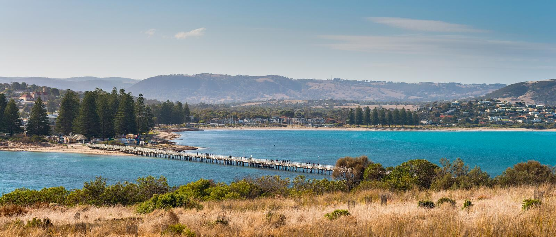 Punto di vista di Victor Harbor fotografia stock