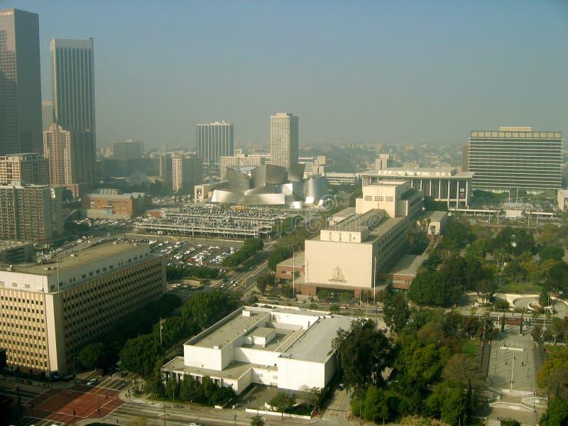 Punto di vista distante di Walt Disney Concert Hall, Los Angeles, California, U.S.A. fotografia stock libera da diritti