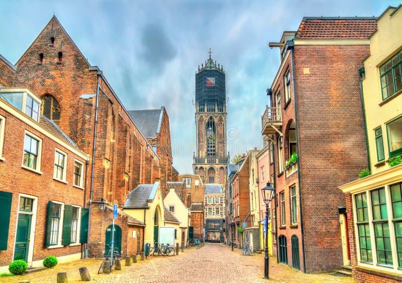 Punto di vista di Dom Tower di Utrecht, Paesi Bassi immagine stock libera da diritti