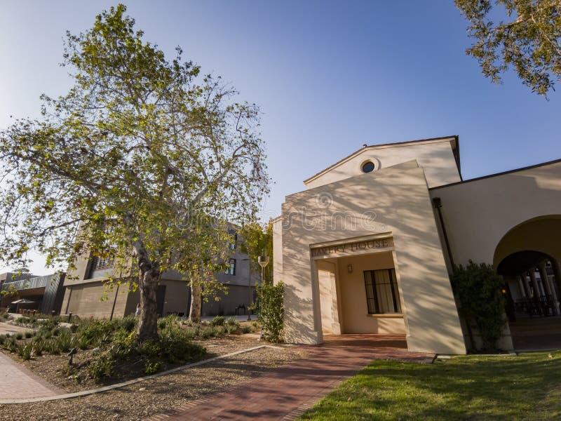 Punto di vista esteriore di Avery House in Caltech fotografia stock