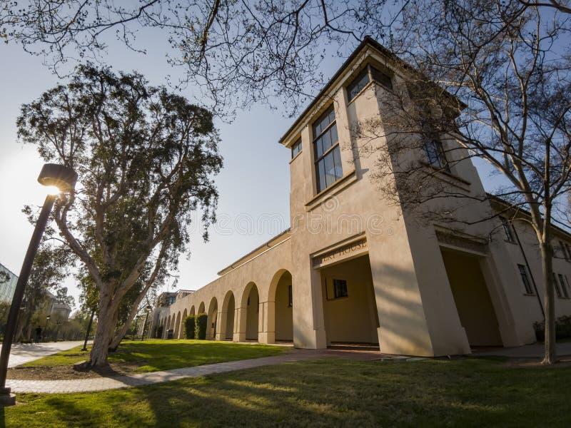 Punto di vista esteriore di Avery House in Caltech fotografie stock