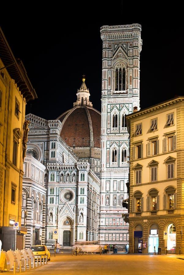 Punto di vista favoloso del bello paesaggio di Florence Duomo Cathe famosa fotografia stock libera da diritti