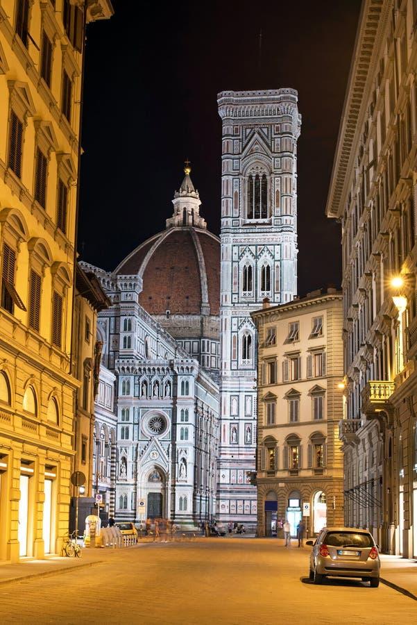 Punto di vista favoloso del bello paesaggio di Florence Duomo Cathe famosa immagini stock libere da diritti