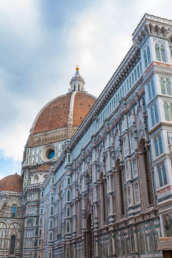 Punto di vista di Florence Cathedral, punto di riferimento italiano fotografie stock