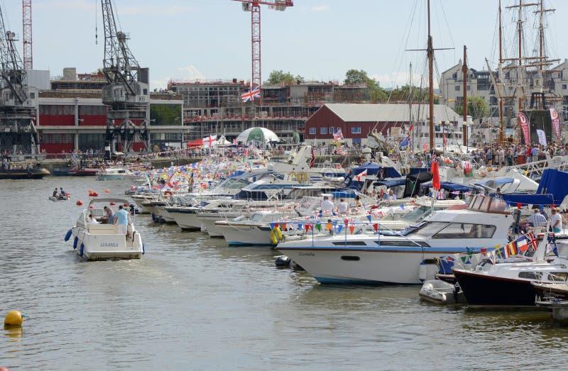 Punto di vista generale di Bristol Harbour Festival fotografie stock libere da diritti