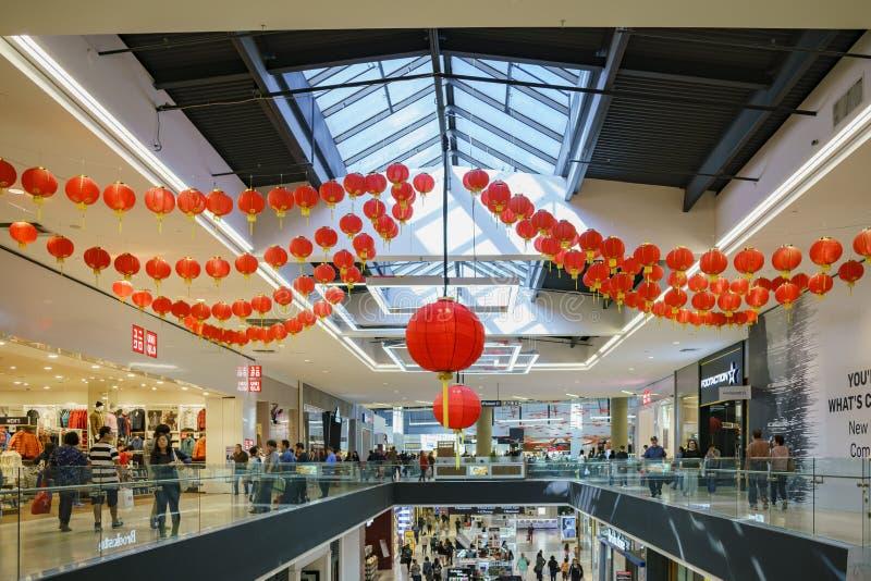 Punto di vista interno di Santa Anita Mall immagine stock libera da diritti