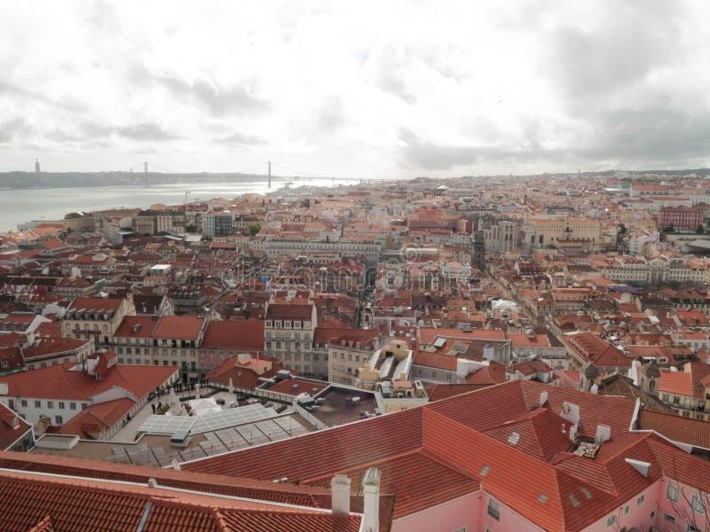 Punto di vista a Lisbona, Portogallo! fotografia stock