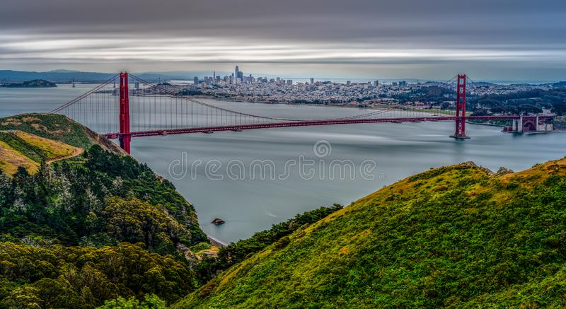Punto di vista di Marin County California di San Francisco Bay fotografie stock libere da diritti