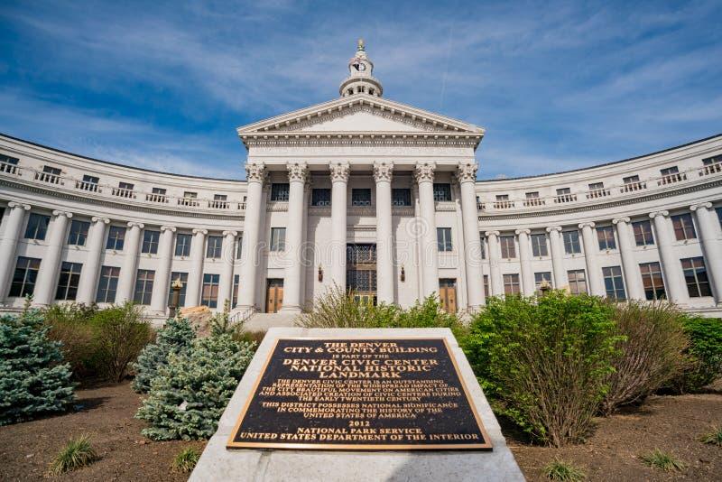 Punto di vista di mattina di Denver City Council fotografia stock