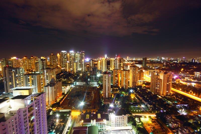 Punto di vista notturno di Kuala Lumpur fotografia stock