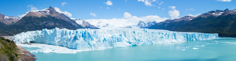 Punto di vista di panorama di Perito Moreno Glacier, Patagonia immagine stock