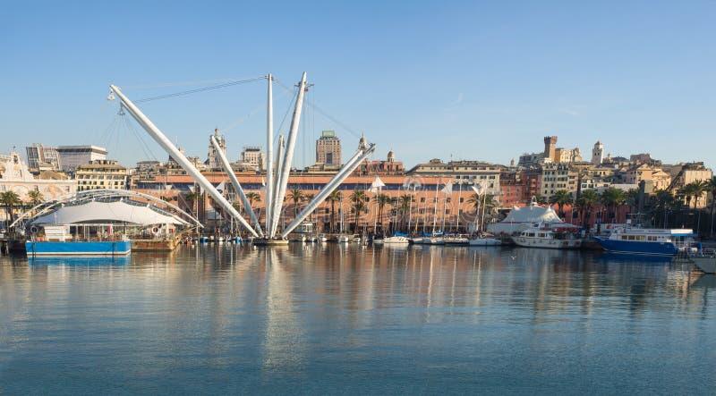 Punto di vista panoramico di Genoa Genova di immagine stock
