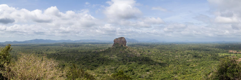 Punto di vista panoramico di Lion Rock in Sigiriya, Sri Lanka fotografia stock