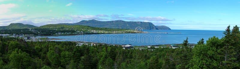 Punto di vista panoramico di Rocky Harbour fotografia stock libera da diritti