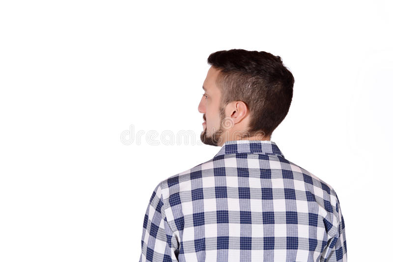 Punto di vista posteriore dell'uomo fotografia stock libera da diritti