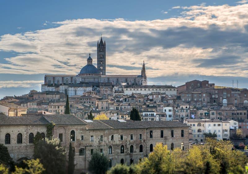 Punto di vista di Santa Maria catedral, Siena, Toscana, Italia immagini stock libere da diritti