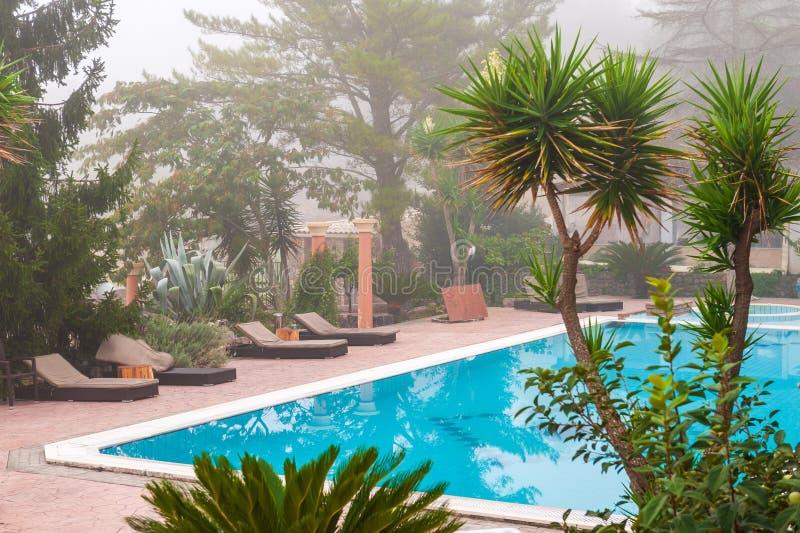 Punto di vista scenico della piscina fotografie stock libere da diritti