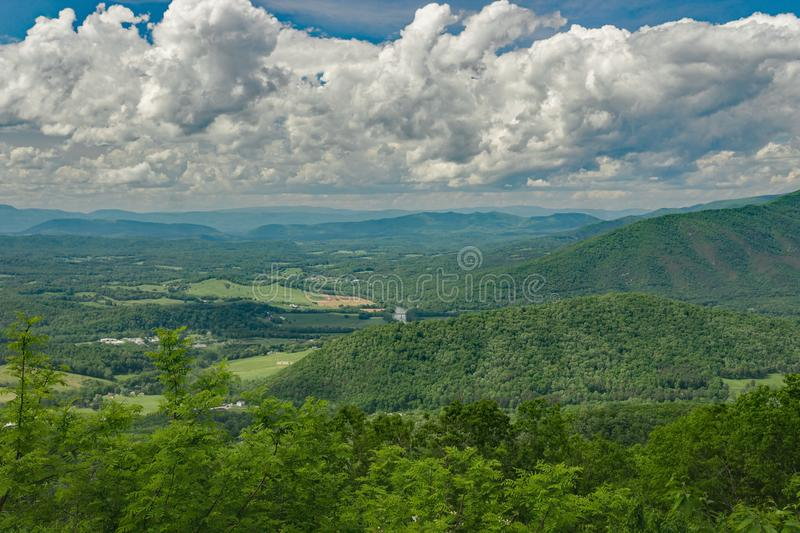 Punto di vista di Shenandoah Valley e di James River fotografia stock