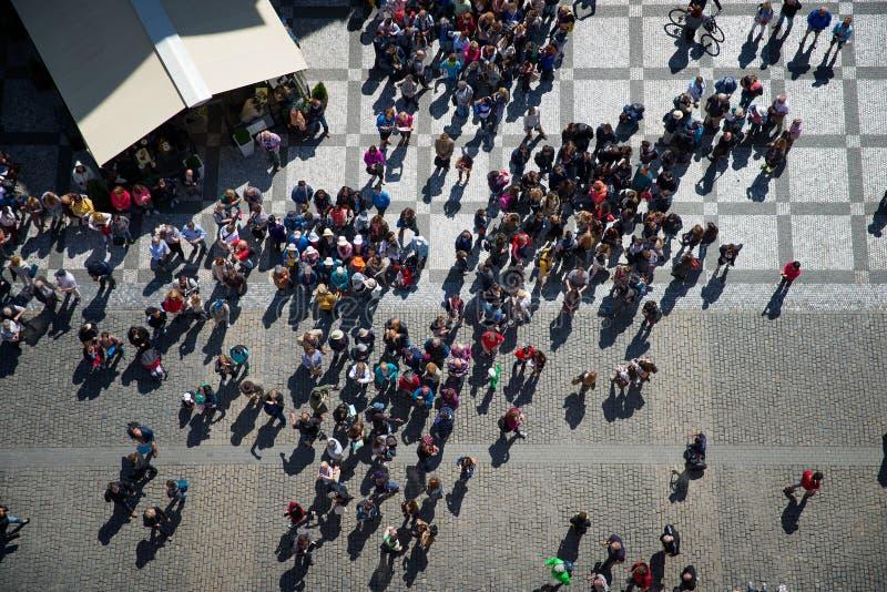 Punto di vista superiore dei turisti di Grupa immagini stock libere da diritti
