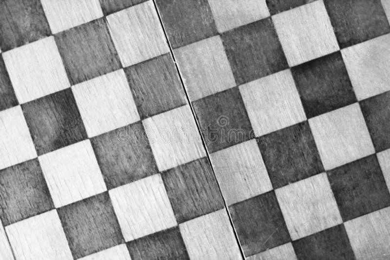 Punto di vista superiore della scacchiera così vicino fotografia stock