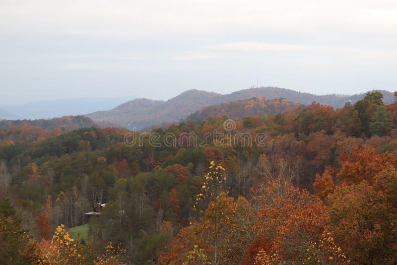 Punto di vista superiore di Smokey Mountains fotografia stock libera da diritti