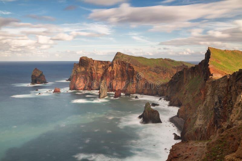 Punto di vista verso Ponta De Sao Lourenco fotografia stock