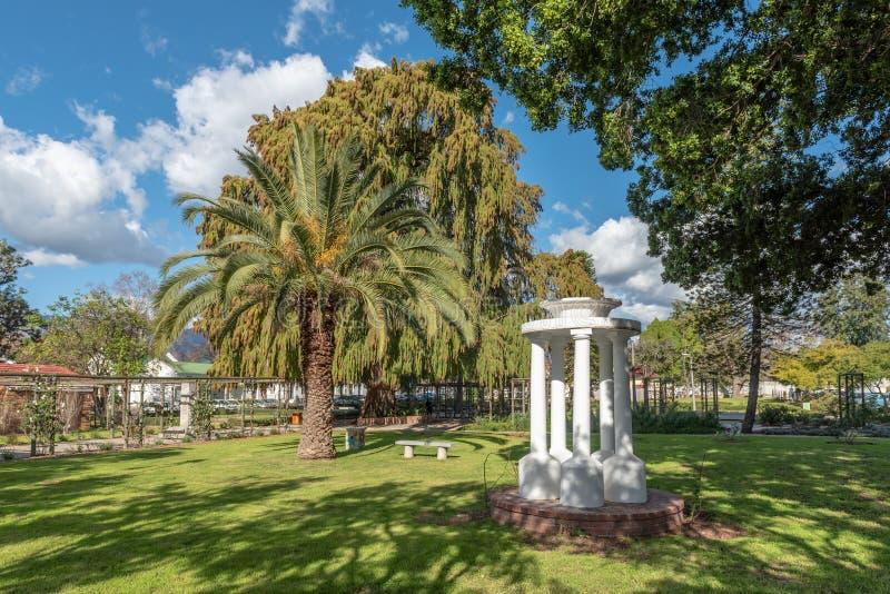 Punto di vista di Victoria Park a Wellington nella Provincia del Capo Occidentale fotografia stock libera da diritti