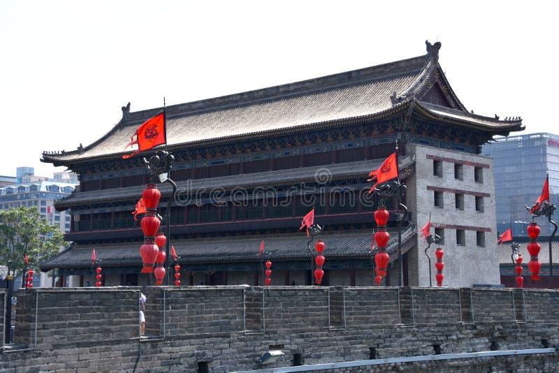 Punto di vista di Xian City Wall, Cina immagine stock