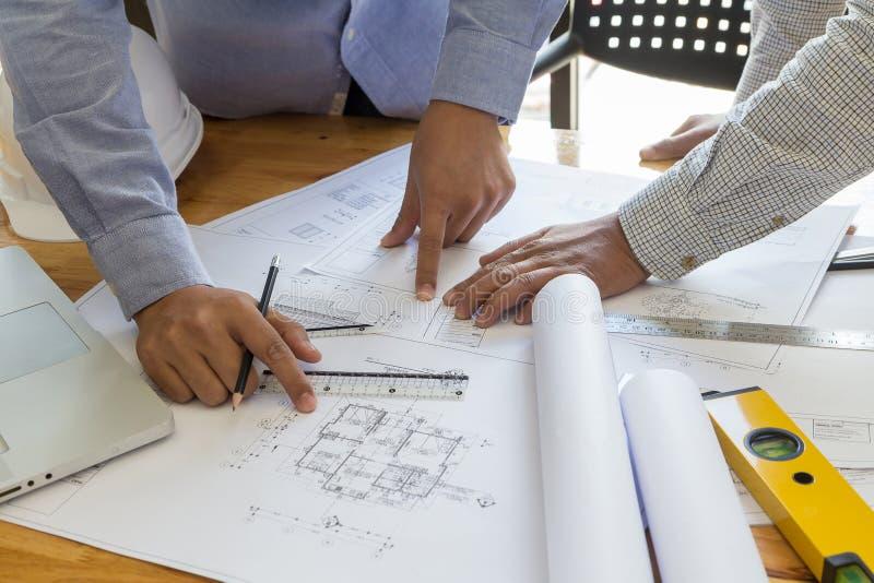 Punto en el modelo, concepto arquitectónico del arquitecto imagen de archivo