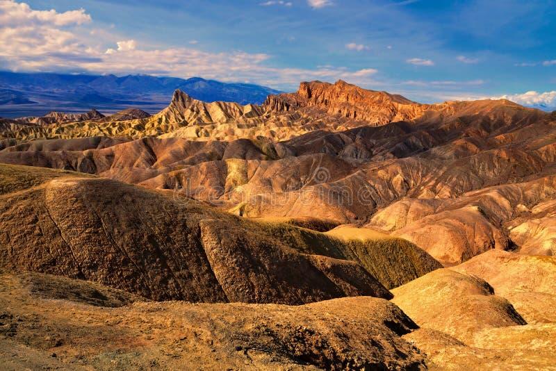 Punto en la puesta del sol, parque nacional de Death Valley, California de Zabriskie foto de archivo libre de regalías