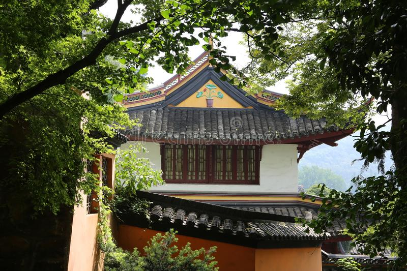 Punto escénico de langshan en provincia de Nantong, Jiangsu, China imagenes de archivo