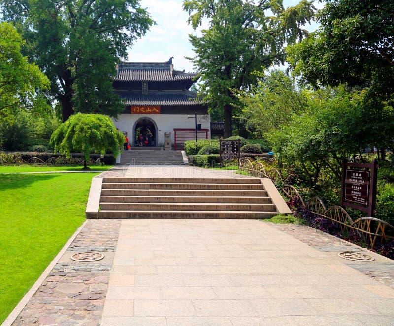 Punto escénico de langshan en provincia de Nantong, Jiangsu, China foto de archivo