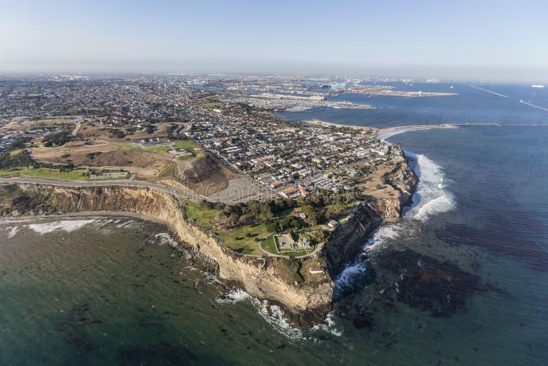 Punto Fermin San Pedro Aerial a Los Angeles California fotografia stock