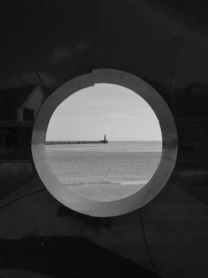 Punto focale dell'oceano immagini stock libere da diritti