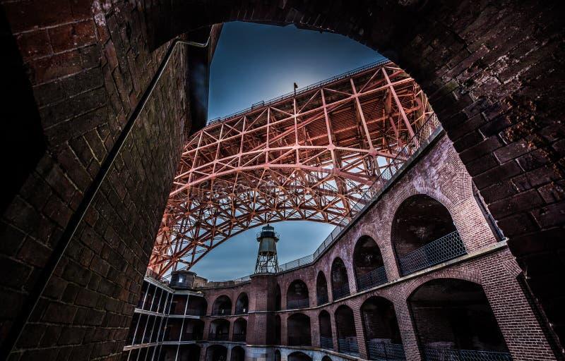 Punto forte golden gate bridge fotografia stock libera da diritti