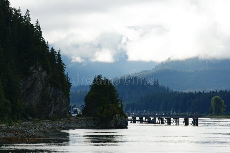 Punto ghiacciato dello stretto, Alaska fotografia stock