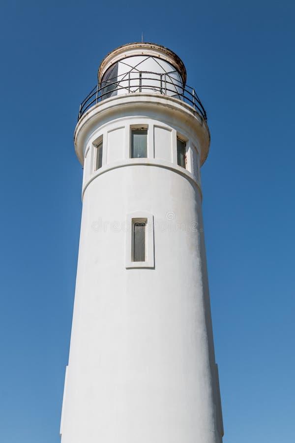 Punto histórico Vicente Lighthouse en California imagen de archivo libre de regalías