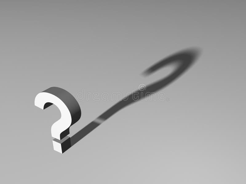 Punto interrogativo illustrazione di stock
