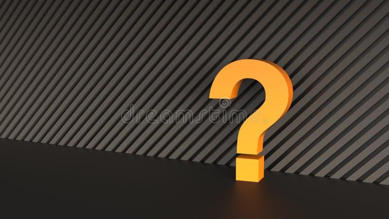 Punto interrogativo arancio immagine stock