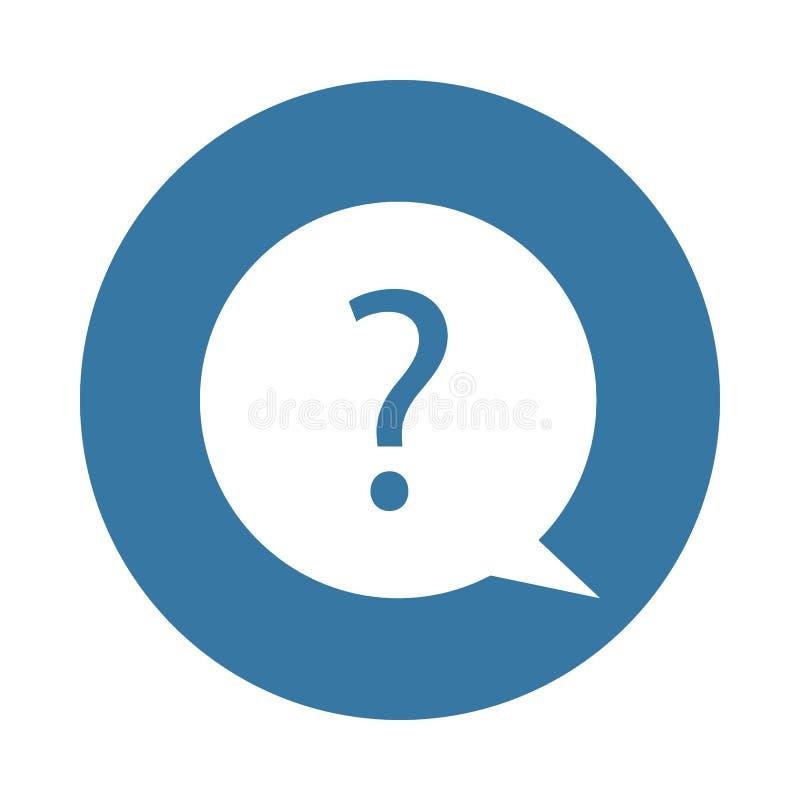 Punto interrogativo come ondulazione dell'acqua Elemento dell'icona di web nello stile del distintivo illustrazione vettoriale
