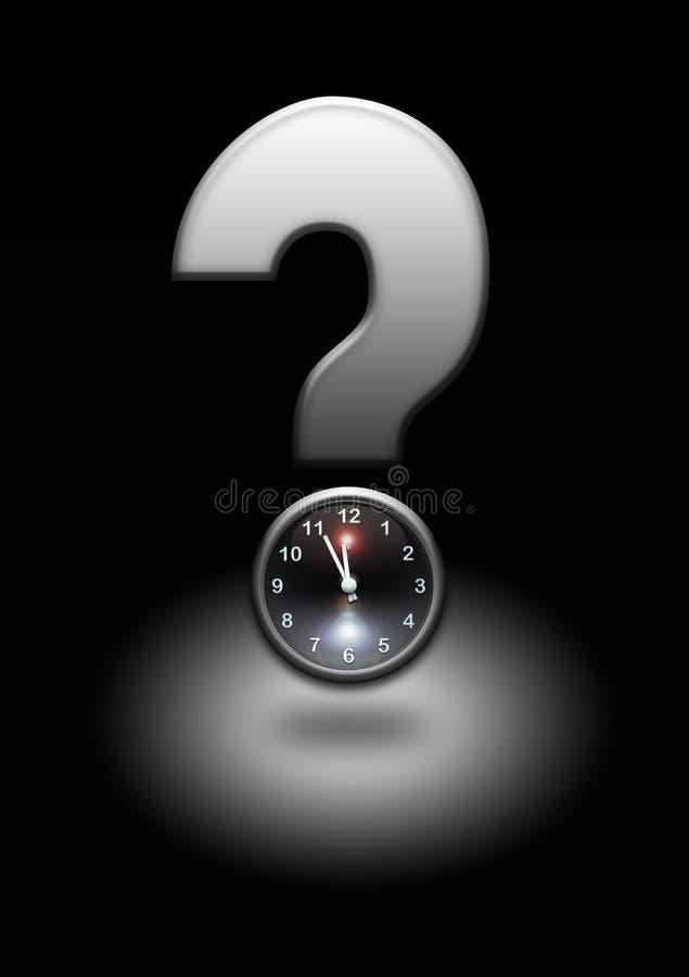 Punto interrogativo con l'orologio royalty illustrazione gratis