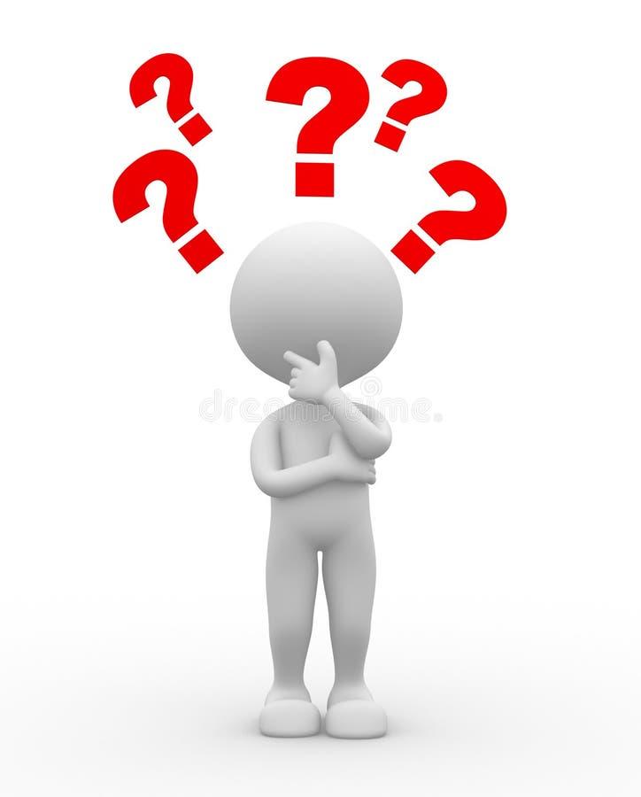 Punto interrogativo. Confusione illustrazione di stock
