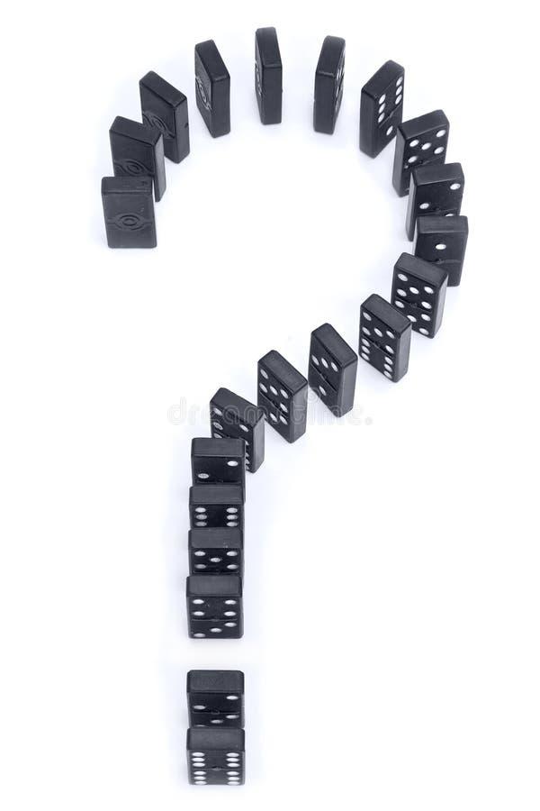 Punto interrogativo di domino fotografie stock