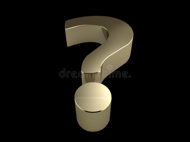 Punto interrogativo dorato illustrazione vettoriale