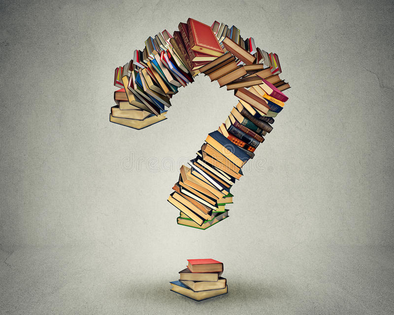 Punto interrogativo fatto dei libri illustrazione vettoriale
